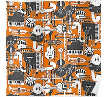 weave jazz orange Poster