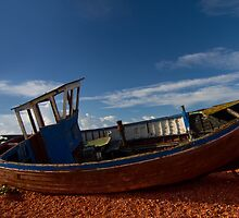 Dungeness Old Abandoned fishing boat and sheds 1 by WillG