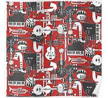 weave jazz red Poster