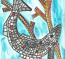 Mosaic Fish II by SharonAHenson