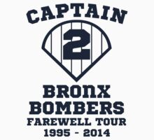 Derek Jeter NY Yankees Farewell Captain Baseball T Shirt by xdurango