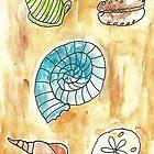 Scattered Seashells II by SharonAHenson