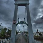 Dumfries, Scotland Suspension Bridge by Allen Lucas