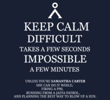 Difficult/Impossible Sam Carter by jenihajas
