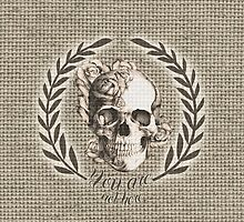 Not here Skull Crest by KristyPatterson