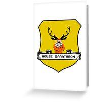 House Baratheon 8-bit Emblem Greeting Card