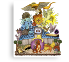 twitch plays pokemon red; the adventure remains! (color)  Canvas Print