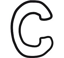 Letter C comic cartoon by Style-O-Mat