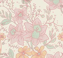 Seamless floral pattern by SonneOn