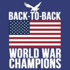 Distressed U.S. Flag & Eagle World War Champs by Alan Craker