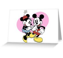 minnie and mickey mouse Greeting Card