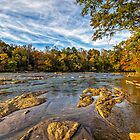 Sunset on the Chattahoochee River by Bernd F. Laeschke