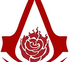 Assassin's Creed Logo w/ Ruby Rose Emblem by BANCOdeCORRO