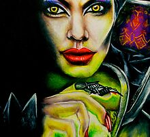 Angelina Jolie as Maleficent by weronikart