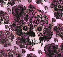 Girly by nature pink skull pattern by KristyPatterson