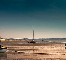 Sailboats at Low Tide by capecodart