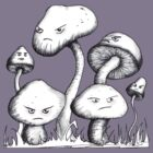 Grumpy Mushrooms by Nik Usher
