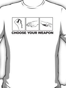 Rock Paper Scissors Choose Your Weapon T-Shirt