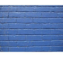 Blue Brick Wall © Photographic Print