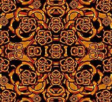 Futuristic Arabesque Pattern by DFLC Prints