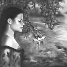 Graphite Drawing - Listening to Nightfall, Elizabeth Bay | Australian Art by Lee Wilde