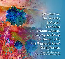 Serenity Prayer Blue Flowers by serenitygifts