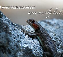 Lizard Close Up — Funny Demotivational Poster With Caption / Typography by Erik Anderson