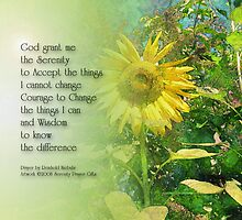 Serenity Prayer Sunflower 2 by serenitygifts