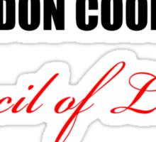 Big Bang Theory - Sheldon Cooper's Council of Ladies Sticker