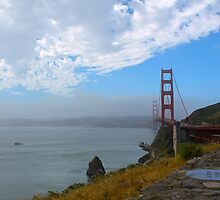 Golden Gate Bridge from Vista Point by LisaThomasPhoto