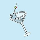 Vintage Narwhal Martini by rebecca-miller