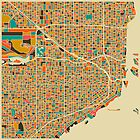 MIAMI FLORIDA MAP by JazzberryBlue