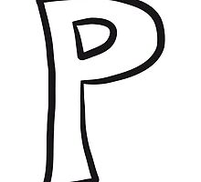 Letter P comic cartoon by Style-O-Mat