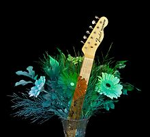 Guitar Flowers 1 by lifeinfineart