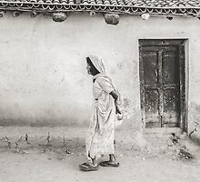 An Old Woman in Bodhgaya by Valerie Rosen