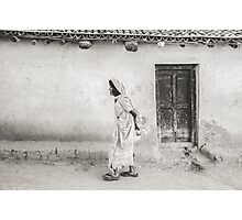 An Old Woman in Bodhgaya Photographic Print