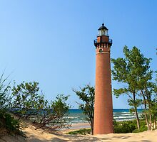 Lighthouse at Little Sable Point by Kenneth Keifer