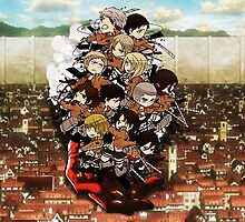 Attack on Titan - Chibilettes by coffeewatson