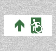 Accessible Means of Egress Icon Emergency Exit Sign, Left Hand Up Arrow Kids Clothes