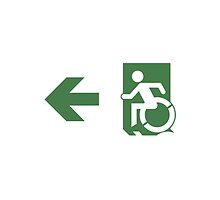 Accessible Means of Egress Icon Emergency Exit Sign, Left Hand Arrow by LeeWilson