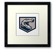 Alligator Head Snout Retro Framed Print