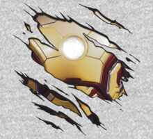 Iron Man - MK42 Tear Tee by lainefirth