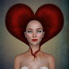 Queen of hearts portrait by Britta Glodde