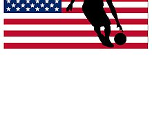 Basketball Dribble American Flag by kwg2200