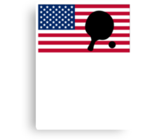 Table Tennis American Flag Canvas Print