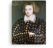 Portrait of nobleman, perhaps Christopher Marlowe Canvas Print