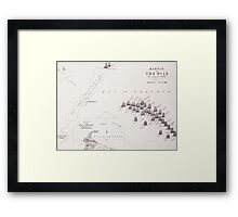 Plan of the Battle of the Nile Framed Print