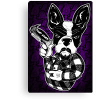 French Bulldog Gangster Canvas Print