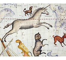 Constellation of Monoceros with Canis Major and Minor Photographic Print