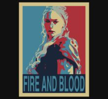 daenerys targaryen fire and blood obamized by Alessandro Tamagni